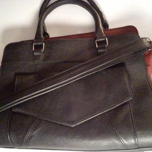 Leather two tone HandBag